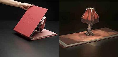 pop up book lamp