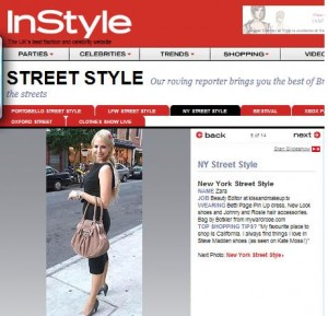 Zara on InStyle Uk