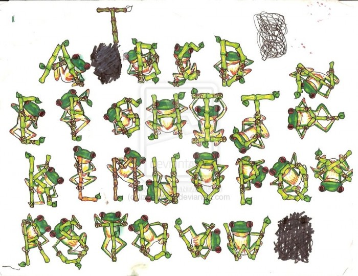 treefrog_font_by_lizzerds86